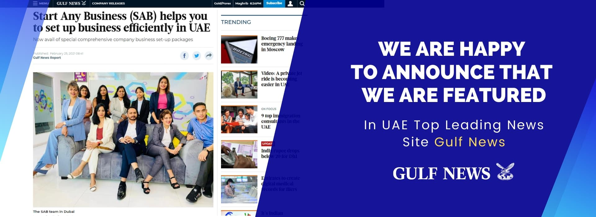 Start Any Business featured in gulf news